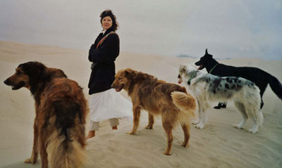 Verona ReBow with her dogs